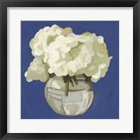 Framed White Hydrangeas I