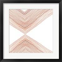 Framed Pink Apogee I