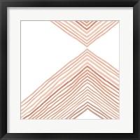 Framed Pink Apogee II