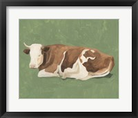 Framed How Now Brown Cow I