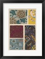 Framed Japanese Textile Design I