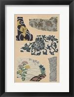 Framed Japanese Textile Design VII