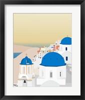 Framed Travel Europe--Santorini