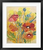 Framed Poppy Collage I