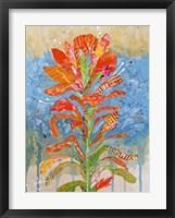 Framed Indian Paintbrush Collage I