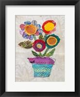 Framed Flower Pot I