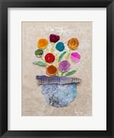 Framed Flower Pot IV