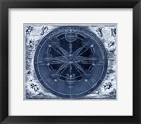 Framed Indigo Planetary Chart