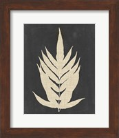 Framed Linen Fern II