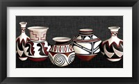 Framed Mexican Pottery