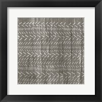 Weathered Wood Patterns II Framed Print