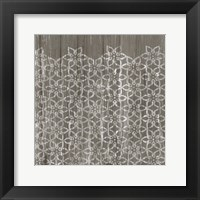 Framed Weathered Wood Patterns IX
