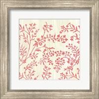 Framed Weathered Patterns in Red V