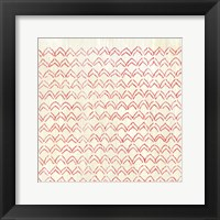 Framed Weathered Patterns in Red VI