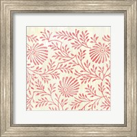 Framed Weathered Patterns in Red VII