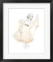 Framed Blush & Grey Fashion I