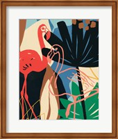 Framed Funky Flamingo I