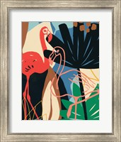 Framed Funky Flamingo I