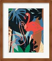 Framed Funky Flamingo II
