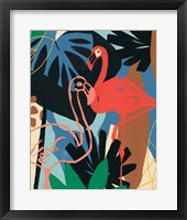 Framed Funky Flamingo II