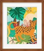 Framed Graphic Jungle IV