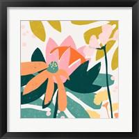 Framed Cut Paper Garden II