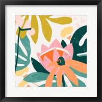 Framed Cut Paper Garden III