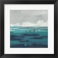 Framed Sea Foam Vista I