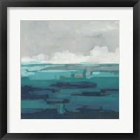 Framed Sea Foam Vista I