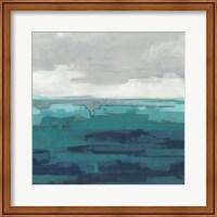 Framed Sea Foam Vista II