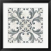 Framed Teal Tile Collection I