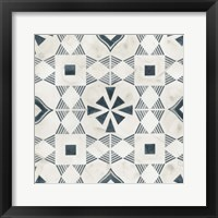 Teal Tile Collection V Framed Print