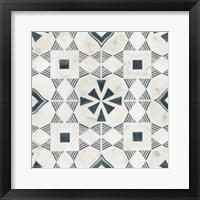 Framed Teal Tile Collection V