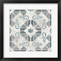 Teal Tile Collection VI Framed Print
