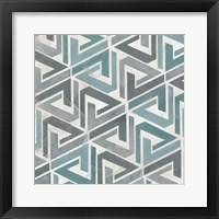Framed Teal Tile Collection II
