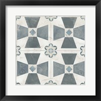 Framed Teal Tile Collection IV