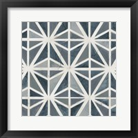 Framed Teal Tile Collection VII
