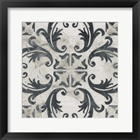 Neutral Tile Collection I Framed Print