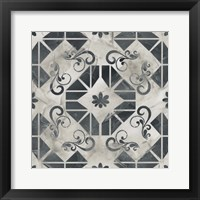 Neutral Tile Collection VI Framed Print