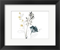 Framed Navy Garden Inspiration I