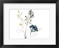 Framed Navy Garden Inspiration I