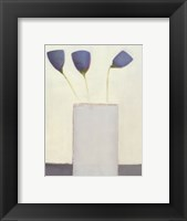 Framed Blue Blumen