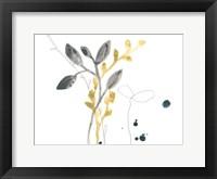 Framed Navy Garden Inspiration III