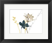 Framed Navy Garden Inspiration IX
