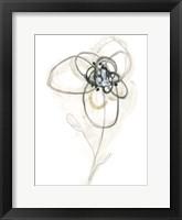 Framed Monochrome Floral Study IV