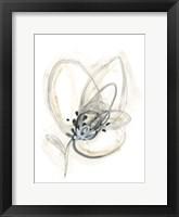 Framed Monochrome Floral Study V