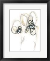 Framed Monochrome Floral Study VI