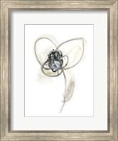 Framed Monochrome Floral Study VII