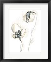 Framed Monochrome Floral Study VIII