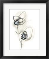 Framed Monochrome Floral Study IX